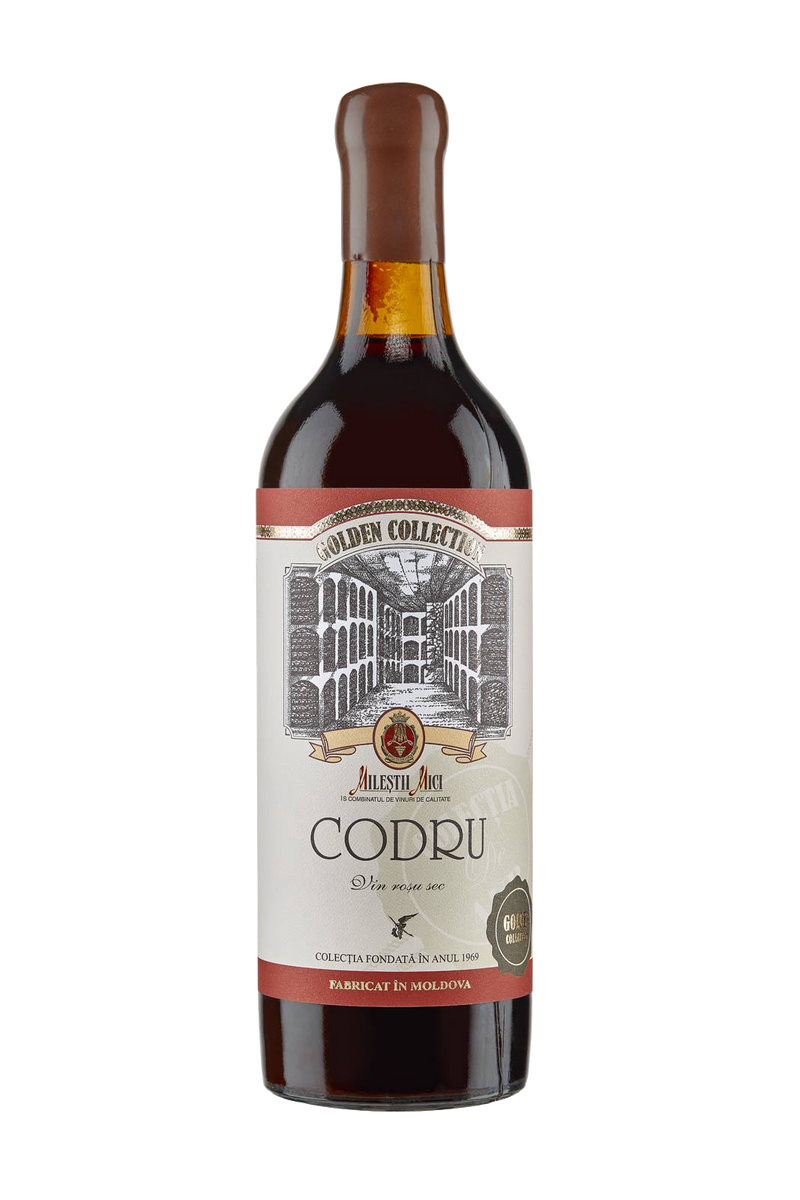 Codru 1987 Vintage wine Preserved in Golden Co - MoldoVAWine House