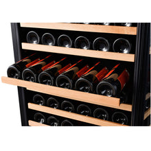 Load image into Gallery viewer, 166 Bottle Dual Zone Wine Cooler, Smoked Black Glass - Smith & Hanks
