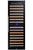 166 Bottle Dual Zone Wine Cooler, Smoked Black Glass - Smith & Hanks