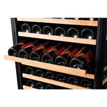 Load image into Gallery viewer, 166 Bottle Single Zone Wine Cooler, Smoked Black Glass - Smith & Hanks