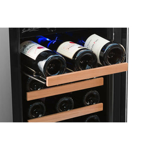 Smith & Hanks 32 Bottle Dual Zone Stainless Steel Wine Cooler - Smith & Hanks