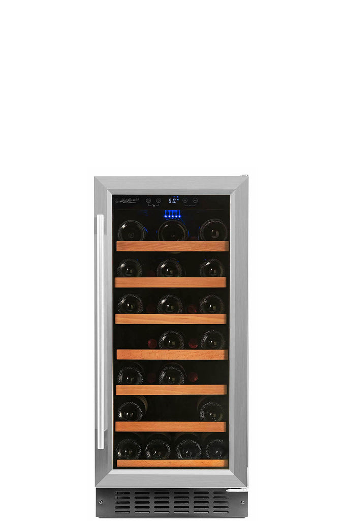 Smith & Hanks 34 Bottle Single Zone Built In Wine Cooler - Smith & Hanks