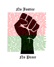 "Load image into Gallery viewer, ""No Justice, No Peace"" Tee (Black)"