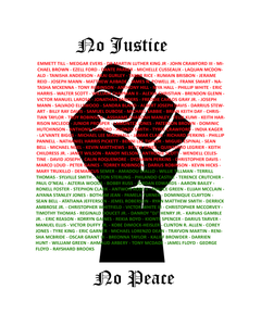 """No Justice, No Peace"" Tee (Black)"