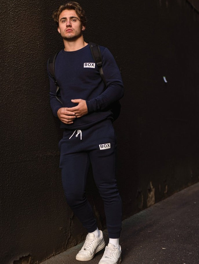 Fleece Jogging Bottoms - Navy