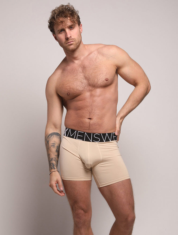 Ross Norton Nude Beige Black Waistband Bulge King Fit Evo