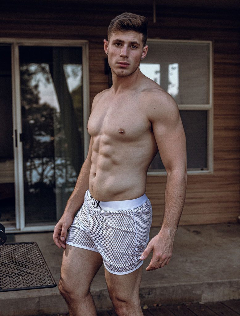 Alex Grant Mesh White See Through Boxer Shorts