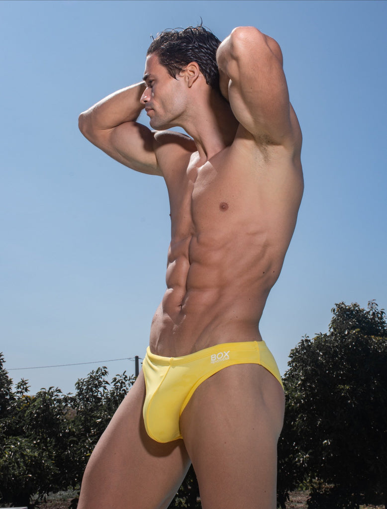 Swimming Trunks - Soft Yellow