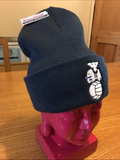 Retro navy thermal hat