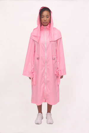 Handmade Detachable Waterproof Made to Measure Pink Raincoat