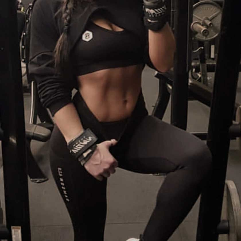 Woman wearing gym wear by Samson Athletics