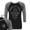 Lockdown Lifting Club One-Year Anniversary Baseball T-Shirt