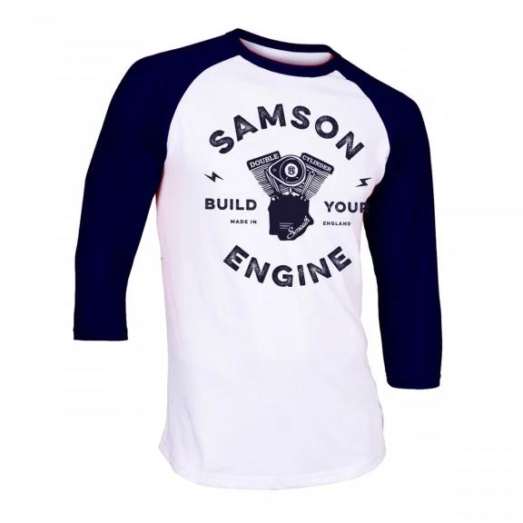 Build your engine baseball t-shirt samson athletics