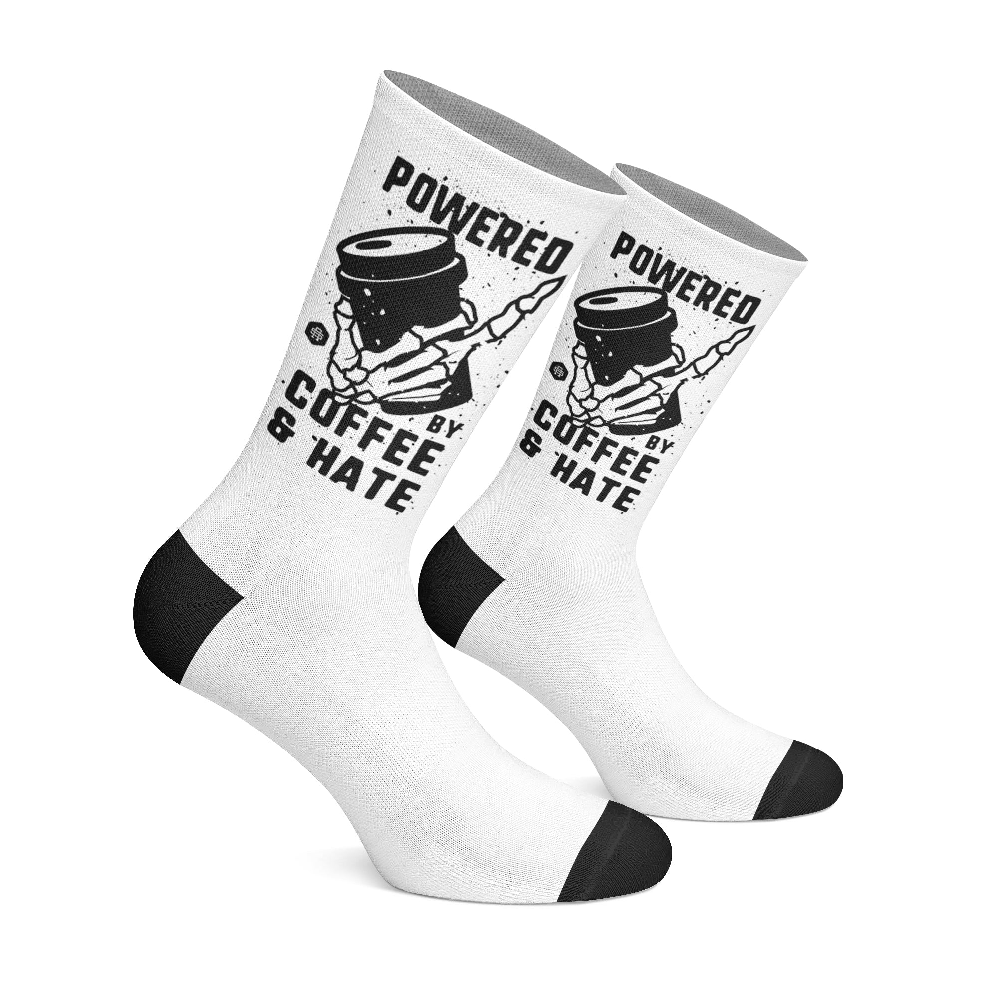 Powered By Coffee And Hate - Socks