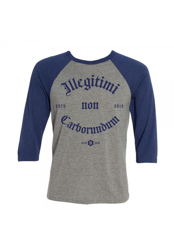 Illigitimi non carborundum baseball t-shirt samson athletics