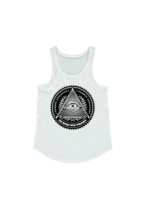 In wod we trust ladies racerback tank samson athletics