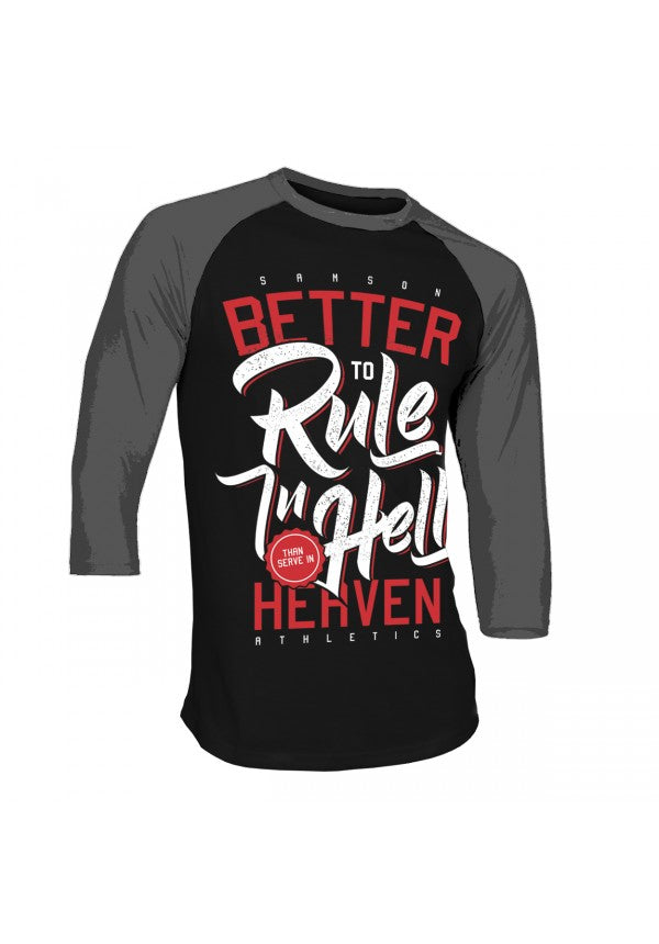 Rule in hell unisex baseball t-shirt samson athletics