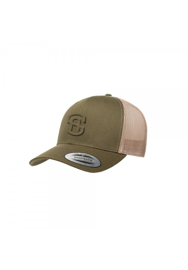 Samson khaki trucker hat samson athletics