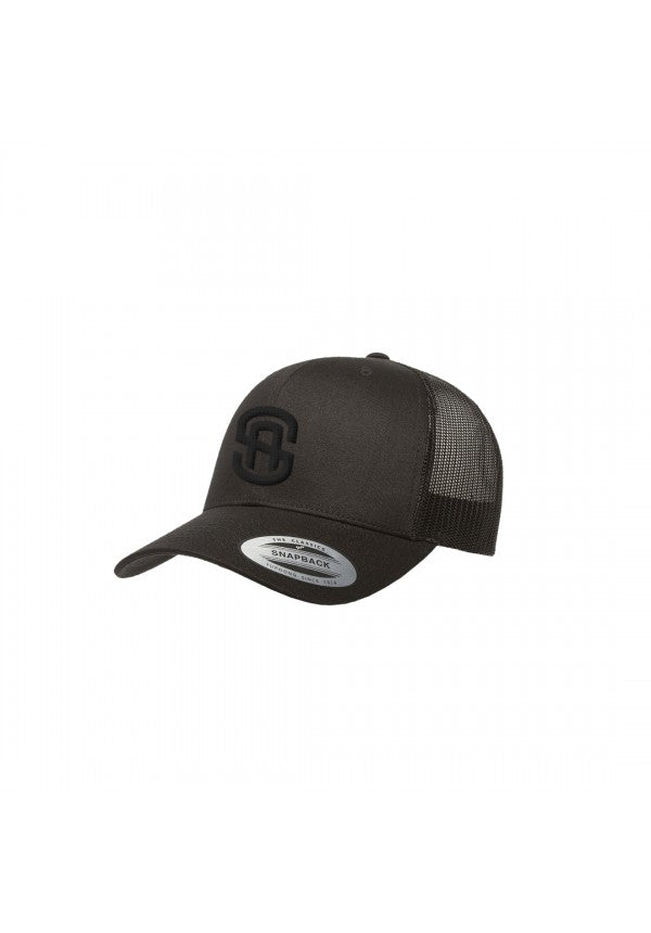 Sa retro trucker hat black/black samson athletics