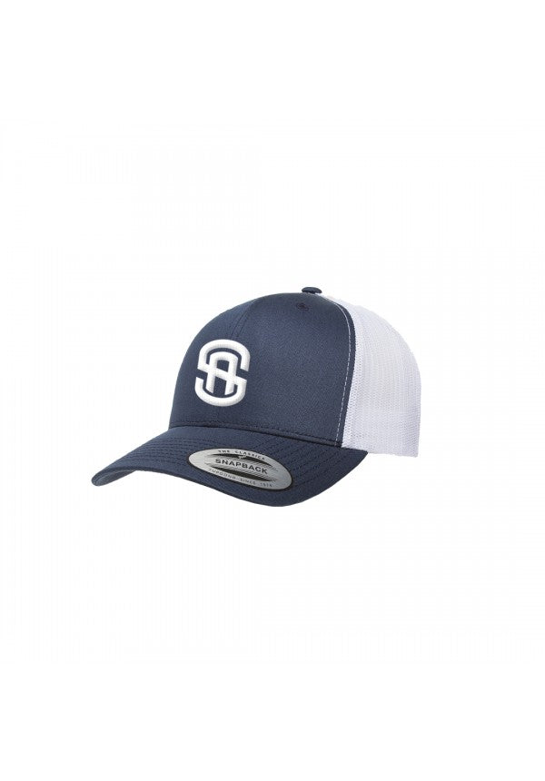 Sa retro trucker hat navy/white samson athletics