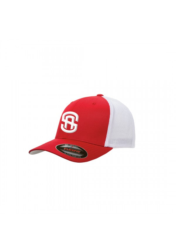 Sa retro trucker hat red/white samson athletics