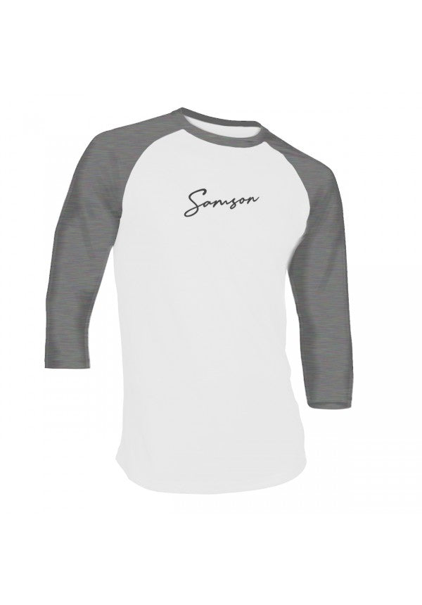 Signature baseball t-shirt heather grey samson athletics