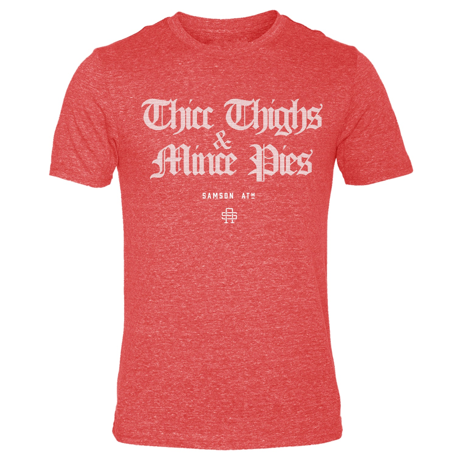 Thicc Thighs & Mince Pies Christmas Gym T-Shirt