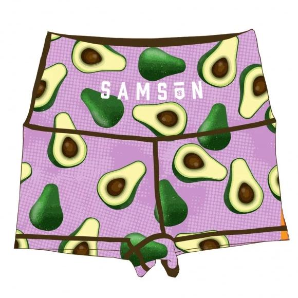 Avocado booty shorts samson athletics