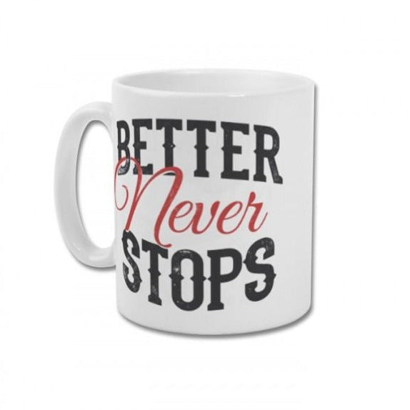 Better never stops mug samson athletics