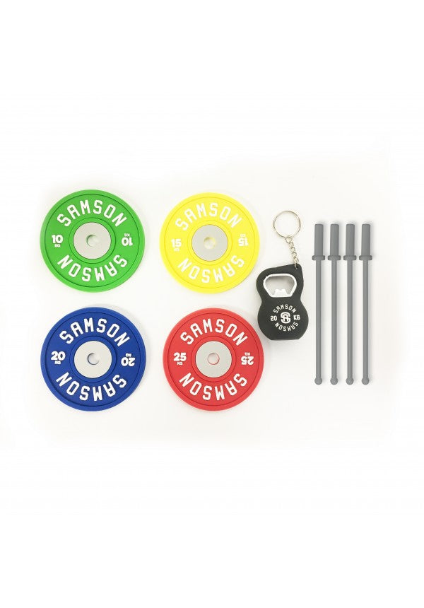 Coaster bottle opener stirrer set samson athletics