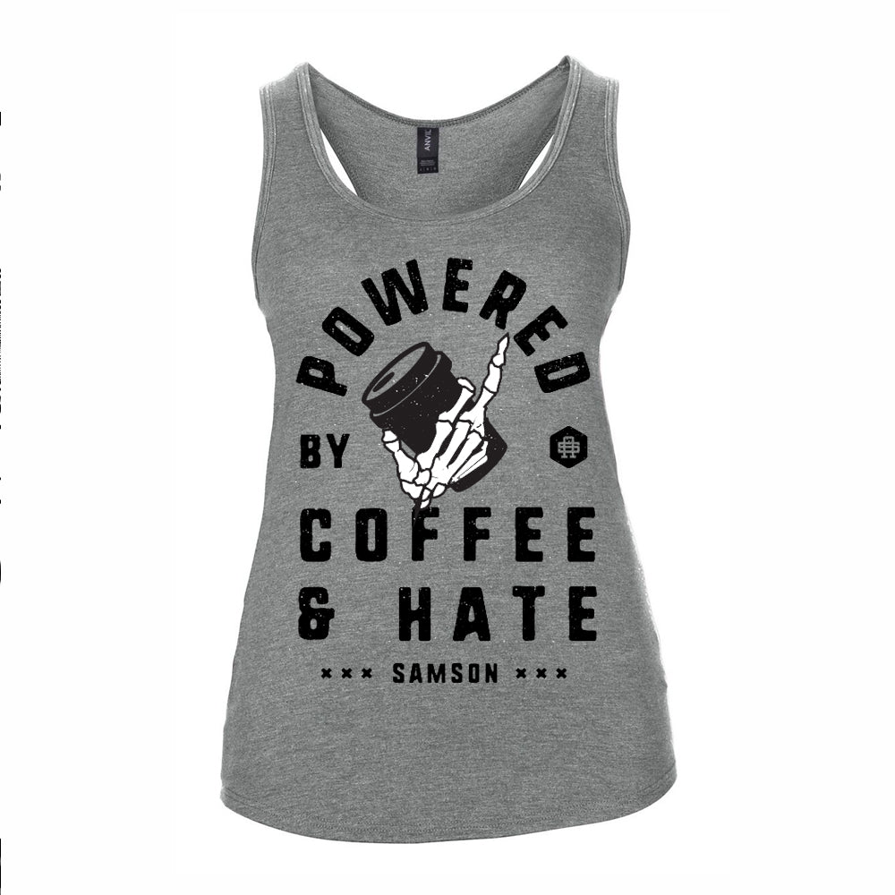 POWERED BY COFFEE AND HATE - V2 - LADIES TANK