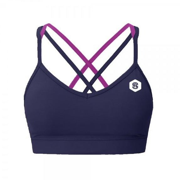 Delilah strappy gym bra navy samson athletics
