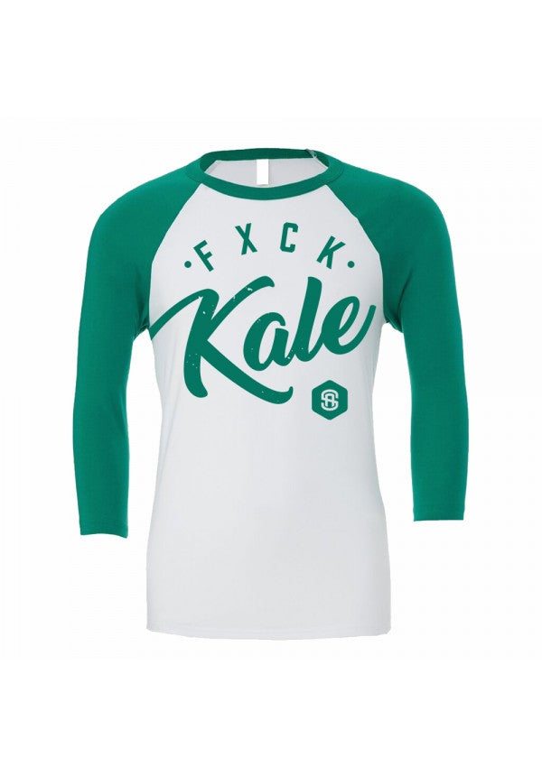 Fxck kale unisex baseball t-shirt samson athletics