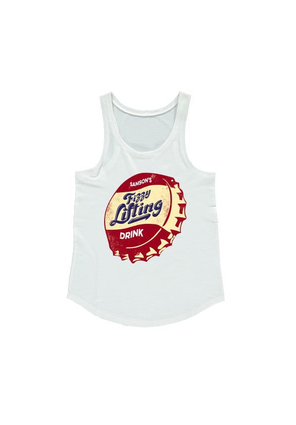 Samsons fizzy lifting drink ladies racerback tank samson athletics