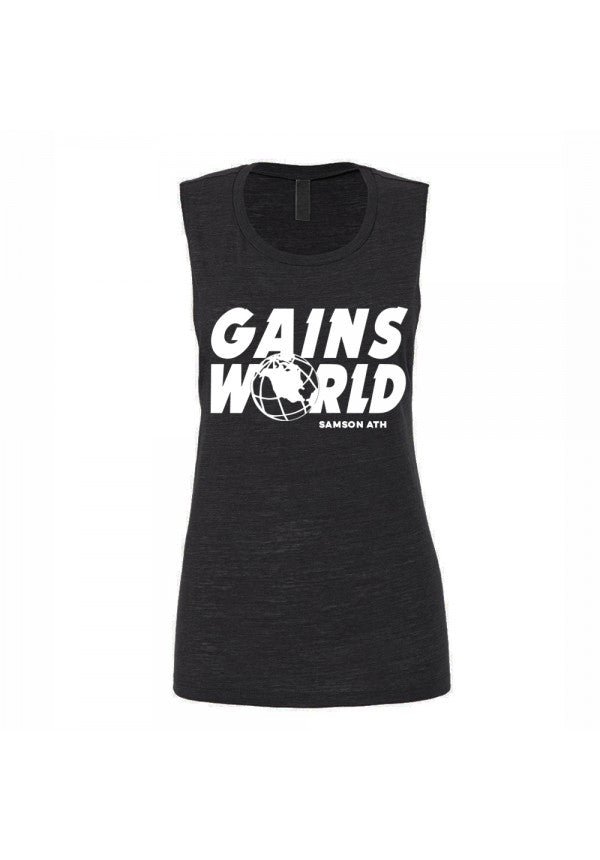 Gains world ladies tank samson athletics