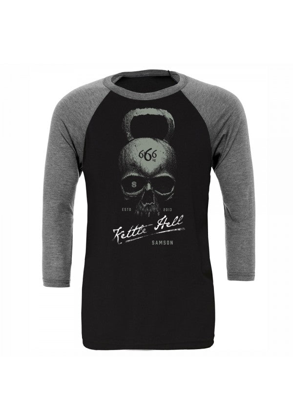 Kettle hell baseball t-shirt samson athletics