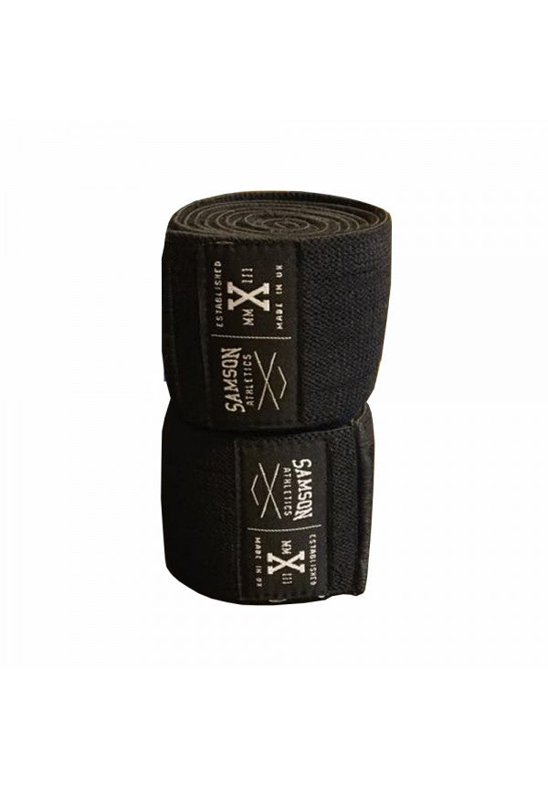 Samson knee wraps black samson athletics