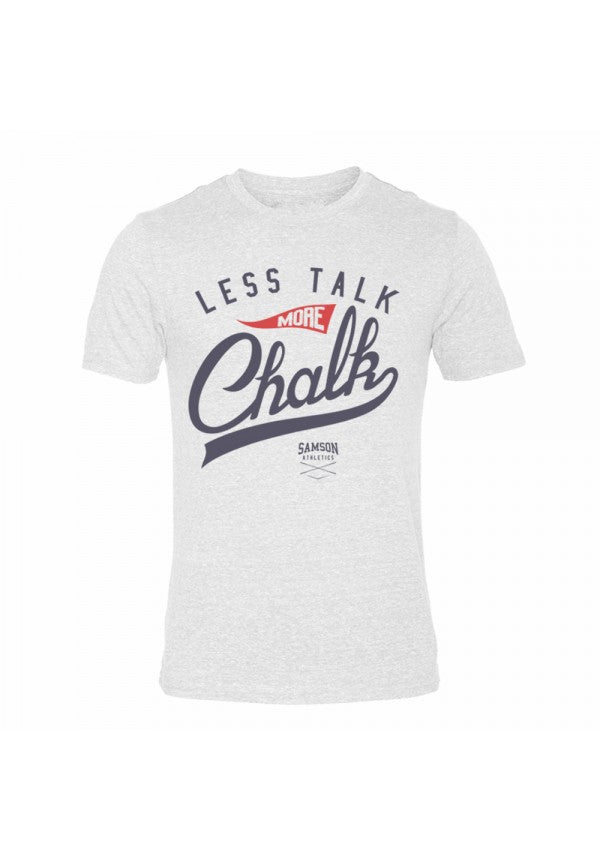 Less talk more chalk triblend tshirt samson athletics