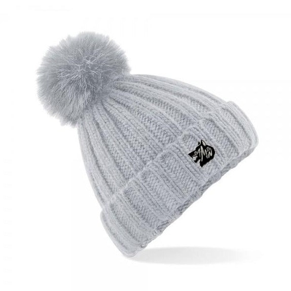 Chunky kit bobble hat light grey samson athletics