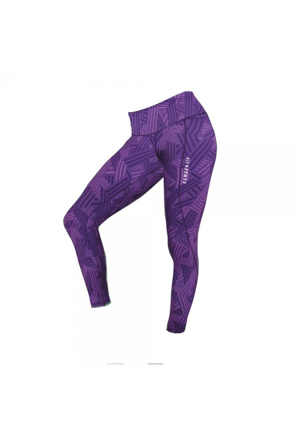 Samson leggings 2.0 linear purple samson athletics