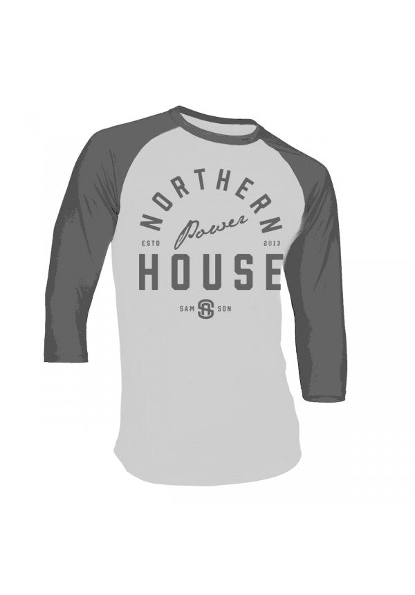 Northern powerhouse unisex baseball t-shirt samson athletics
