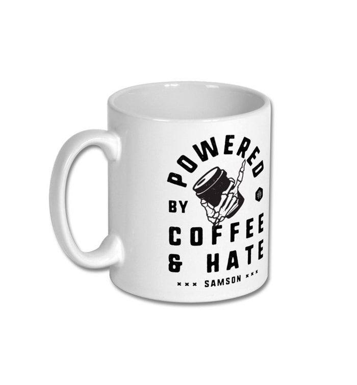 Powered By Coffee And Hate Mug
