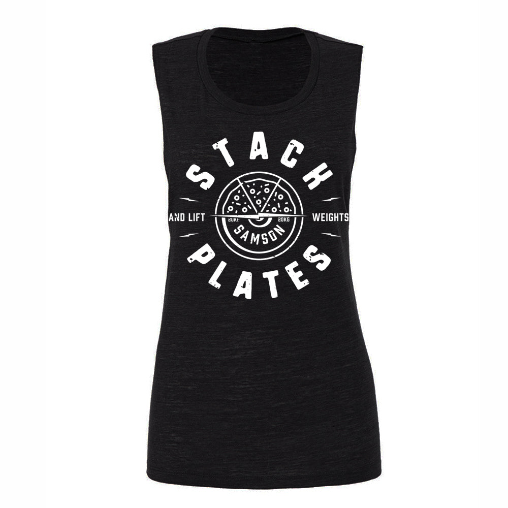 Stack Plates And Lift Weights - Ladies Muscle Tank