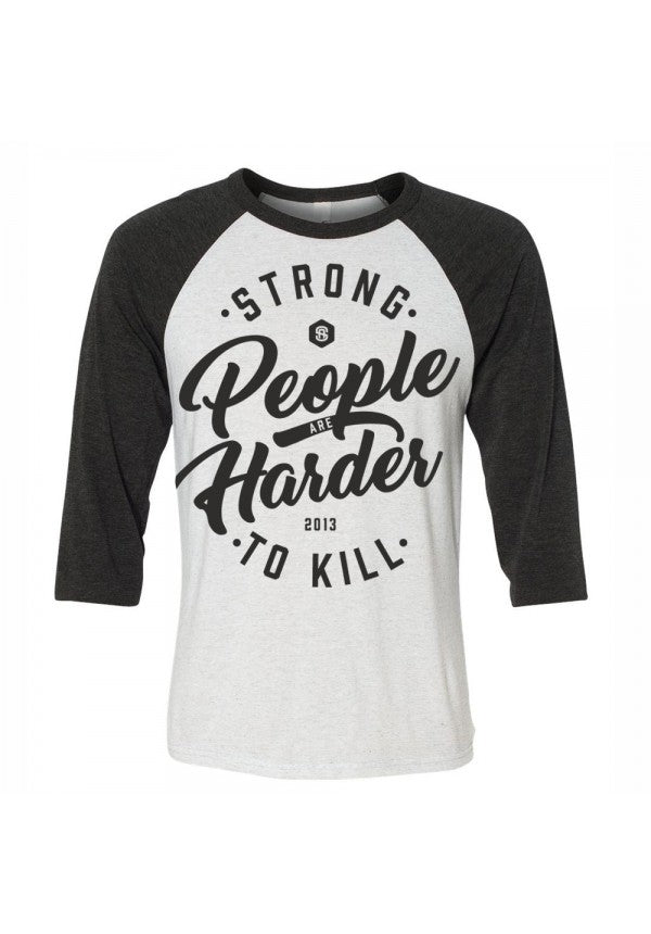 Strong people are harder to kill 2.0 baseball t-shirt samson athletics
