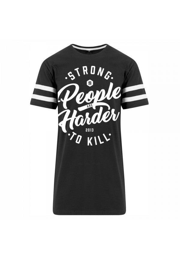 Strong people are harder to kill 2.0 stripe t-shirt samson athletics