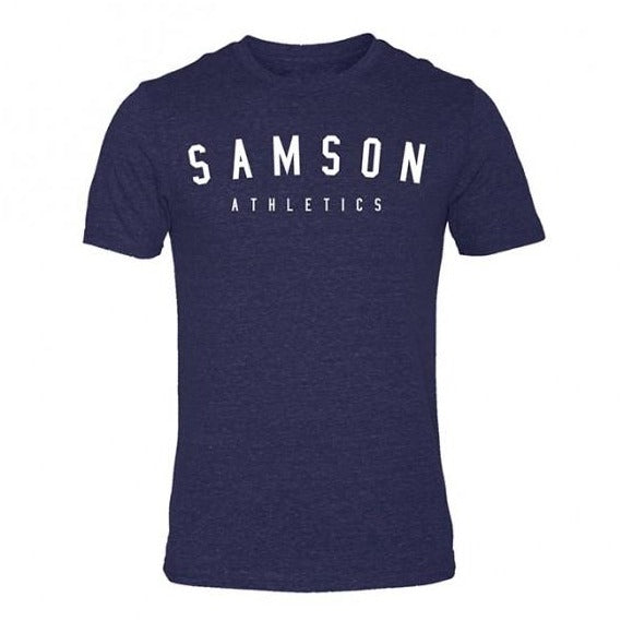 Classic signature navy triblend t-shirt samson athletics