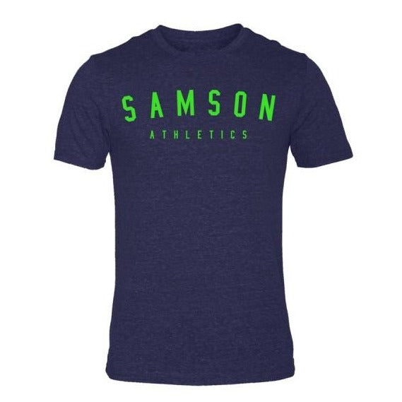 Classic signature navy/mutant green triblend t-shirt samson athletics