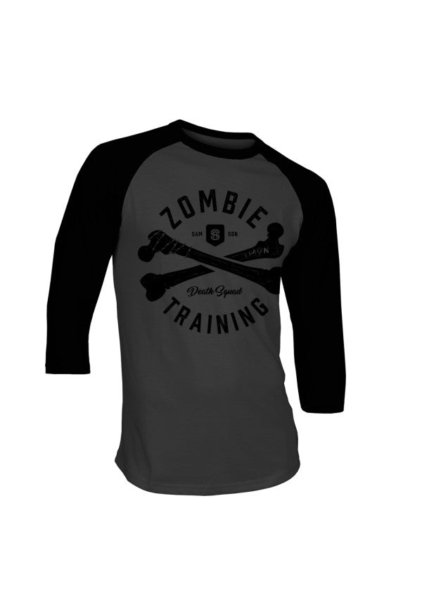 Zombie death squad baseball t-shirt samson athletics