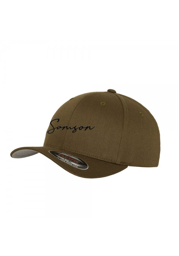 Signature flexfit baseball cap olive samson athletics