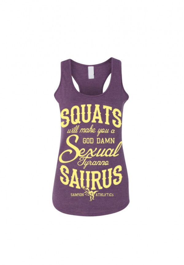 Sexual tyrannosaurus ladies purple tank v2 samson athletics